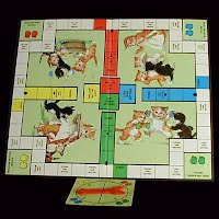 Vintage Three Little Kittens Game Board