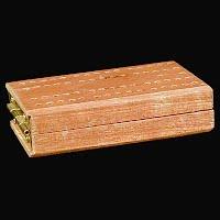 Vintage Cribbage Board, wood, travel size