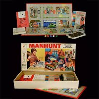 Vintage Milton Bradley Manhunt Game 1972