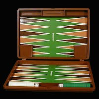 Vintage Pressman Backgammon Game with case