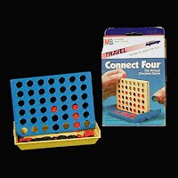 Vintage Milton Bradley Connect Four Travel Game
