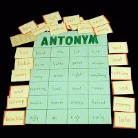 Teacher Made Educational Antonym Matching Game