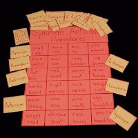 Teacher Made Educational Antonym, Synonym Matching Game