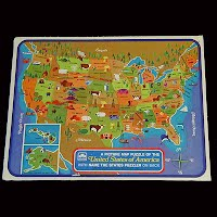 Vintage Picture Puzzle of the United States Puzzle, 1968