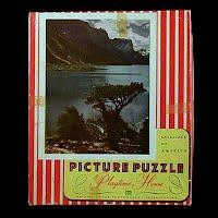 Vintage Glacier National Park Puzzle
