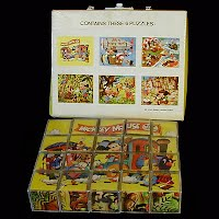 Vintage Disney Mickey Mouse Puzzle Blocks
