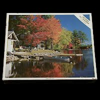 Vintage Moose Pond Maine Puzzle, Whitman