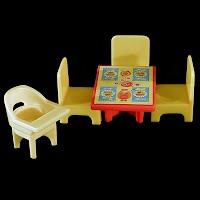 Vintage Fischer Price Little People Kitchen (5) Furniture, 1970s