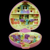 Vintage Perfect Playroom Polly Pocket, 2 babies and 1 Polly, 1994