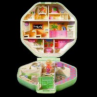 Vintage Polly's School Polly Pocket, 1 Polly Teacher, Bluebird Toys 1990