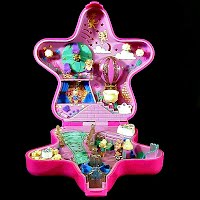 Vintage Fairylight Wonderland Ball Polly Pocket, 2 fairies and 1 actor, Bluebird Toys 1993