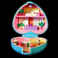 Vintage Pretty Pandas Polly Pocket, Bluebird Toys 1993