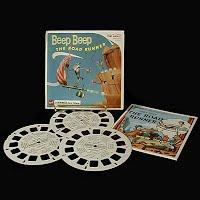 Vintage View Master Reels, Beep Beep The Road Runner Blisterpack (3), 1967