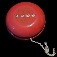 Vintage 1950 Duncan Pink Jeweled Tourament Yo-Yo