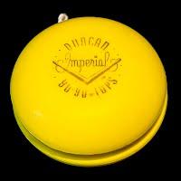 Vintage 1950 Duncan Yellow First Plastic Imperial Yo-Yo