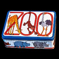 Vintage Tin Lithograph Zoo Box