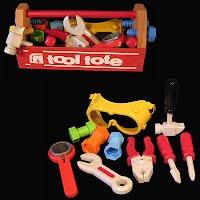 Vintage Wooden Sandberg Tool with Tools