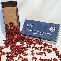 Vintage Judy's Manuscript Alphabets, School Set Number 120