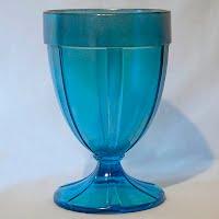 Vintage Fenton Blue Stretch Glass Vase or Candy Jar