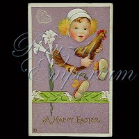 Antique Easter Post Card 1917
