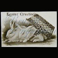 Antique FAMOSS Easter Post Card 1910