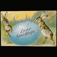 Antique Embossed Easter Post Card 1909