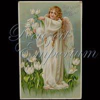 Antique German Easter Postcard 1910