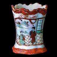 Antique Japanese Porcelain Toothpick Holder