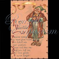 Antique Tuck Valentine Postcard with person