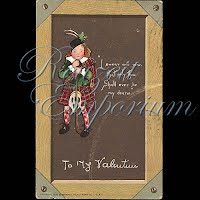 Antique Tuck Valentine Postcard with Scottish Man with golf club
