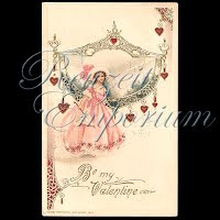 Antique Valentine Postcard John Winsch with pretty lady