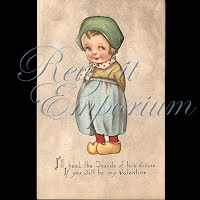 Antique Gibson Valentine Postcard with little Dutch boy