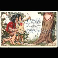 Antique Valentine Postcard with Indians, The Fairman Company