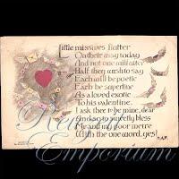 Antique Valentine Postcard with Valentine verse