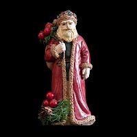 vintage red Christmas santa figurine with sack