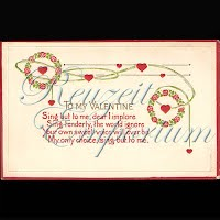 Antique Valentine Postcard with a song