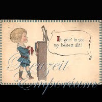 Antique Valentine Postcard with boy and tie