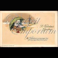 Antique John Winsch Valentine Postcard with Dutch couple