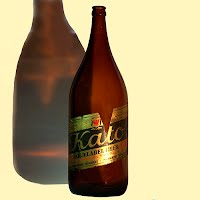 Antique Kato Gold Label Beer Bottle, one half gallon size