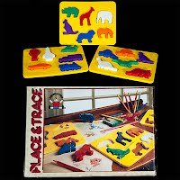 Vintage Place and Trace, 1984 Discovery Toys