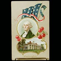 1910 Antique Postcard, President Washington