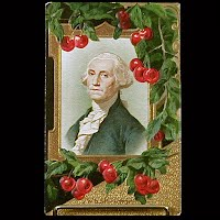 1924 Antique Postcard, George Washington Birthday