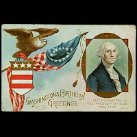 1910 Antique Postcard, Washington's Birthday