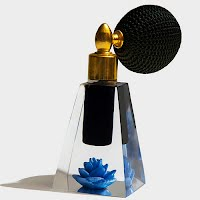 Antique Vintage Art Deco Perfume Bottle with atomizer