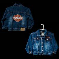 Vintage Children Harley Davidson Jean Jacket, size 6