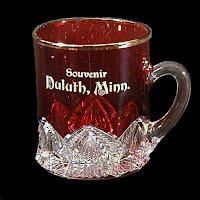 Antique EAPG Ruby Stained Mug, 1910?
