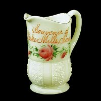 Antique EAPG Custard Glass Cream Pitcher, 1900 Heisey Glass Co
