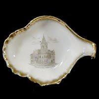 Antique Souvenir Small Porcelain Dish, 1920