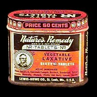 Antique Tin Box, Natures Remedy