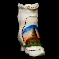 Vintage Antique Porcelain Boot Germany, Springfield, Illinois State Capitol